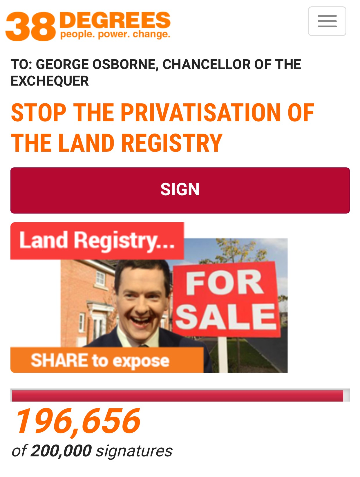 Stop Privatisation of the Land Registry