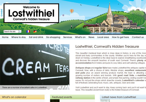 Lostwithiel website